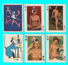 Pin up playing cards Models of all Nations, playing cards circa